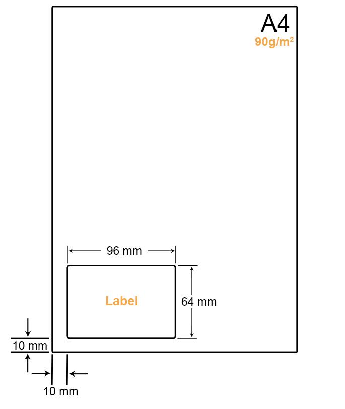 A4 Papier met 1 (adres)label