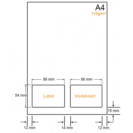 A4 Papier met 1 label en kaart - WW41151LVA