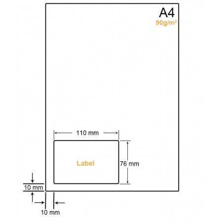 A4 Papier met 1 label - WW4901A