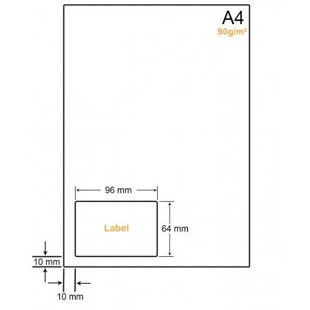 A4 Papier met label WW4901C