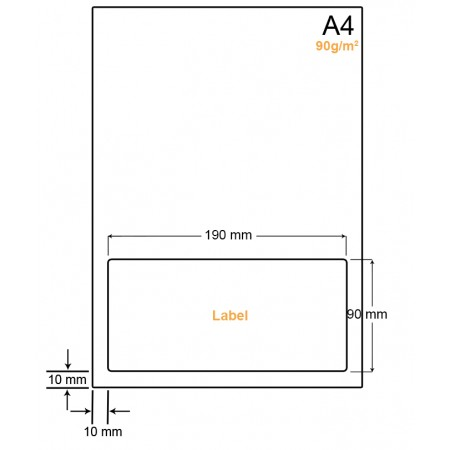 A4 Papier met 1 label - WW4901D