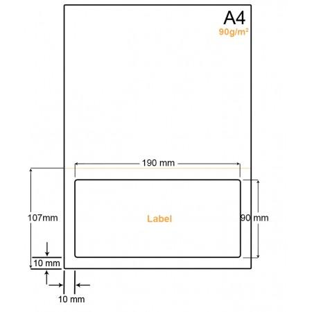A4 Papier met 1 label - WW4901DP