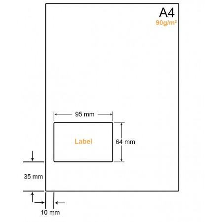 A4 Papier met 1 label - WW4901L