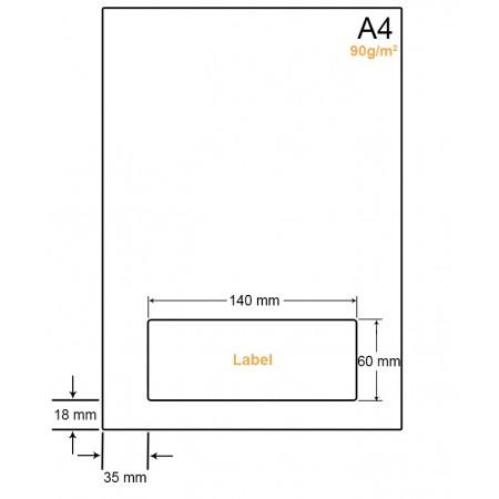 A4 Papier met 1 label - WW4901M