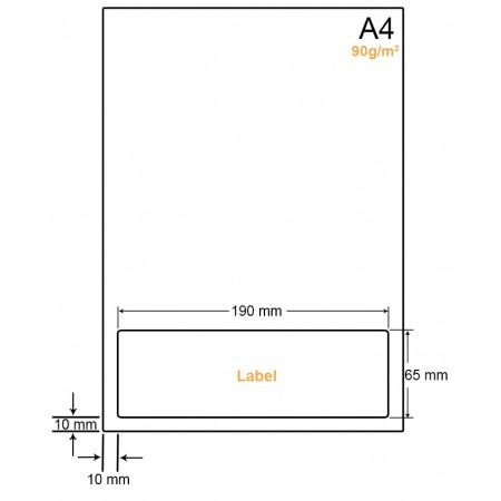 A4 Papier met 1 label - WW4901N