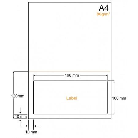 A4 Papier met 1 label - WW4901OP