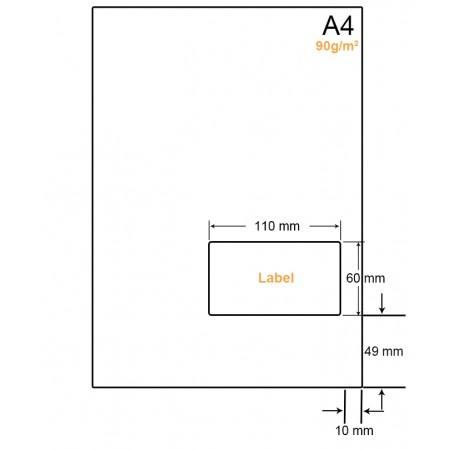 A4 Papier met 1 label - WW4901R