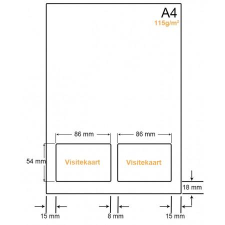 A4 Papier met 2 kaarten - WW41152VA