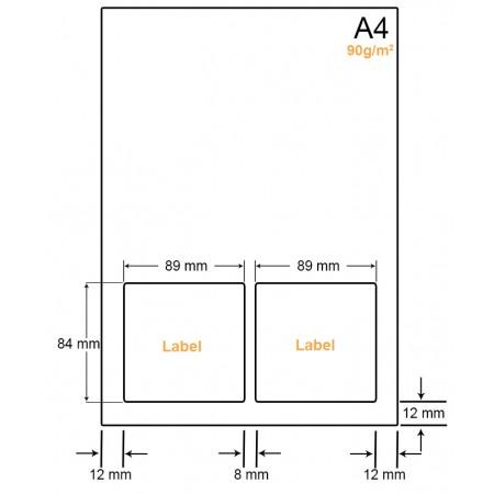 A4 Papier met 2 labels - WW4902A