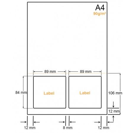 A4 Papier met 2 labels - WW4902AP