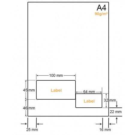 A4 Papier met 2 etiketten - WW4902B