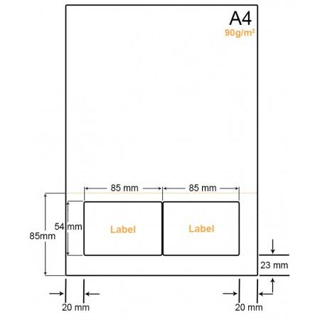 A4 Papier met 2 labels - WW4902CP