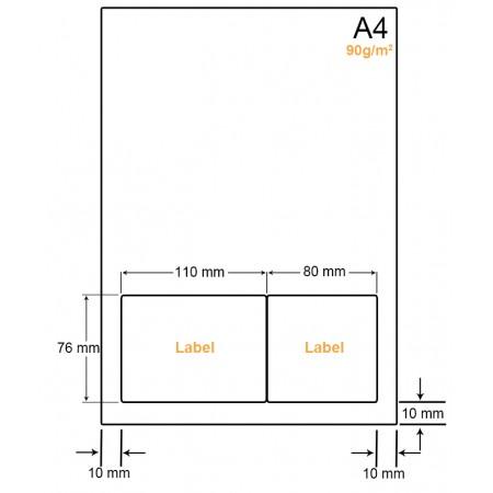 A4 Papier met 2 labels - WW4902F