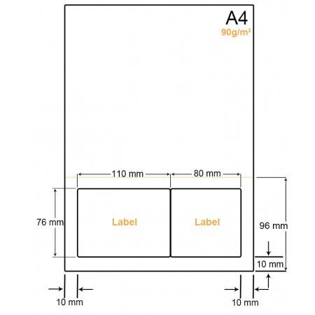 A4 Papier met 2 labels - WW4902FP