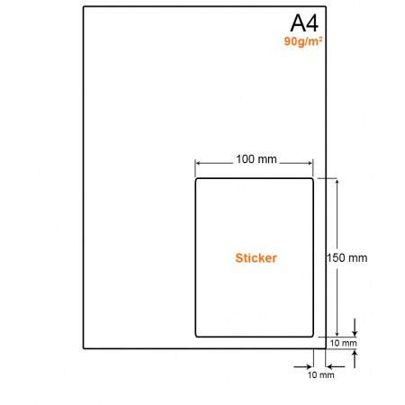 A4 Papier met PostNL pakket label (A6 formaat label) - WW4901LP