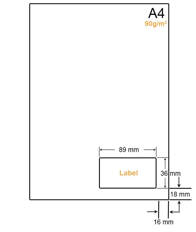 A4 Papier met 1 label - WW4901E
