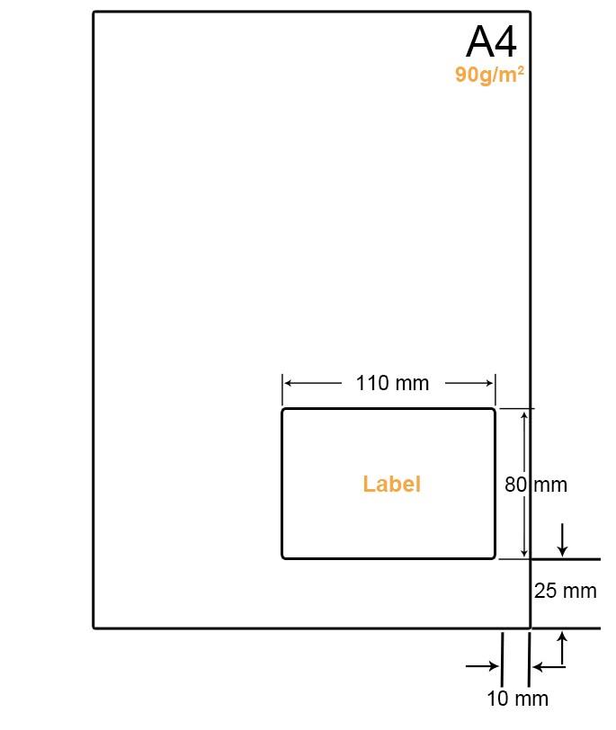 A4 Papier met 1 label - WW4901G
