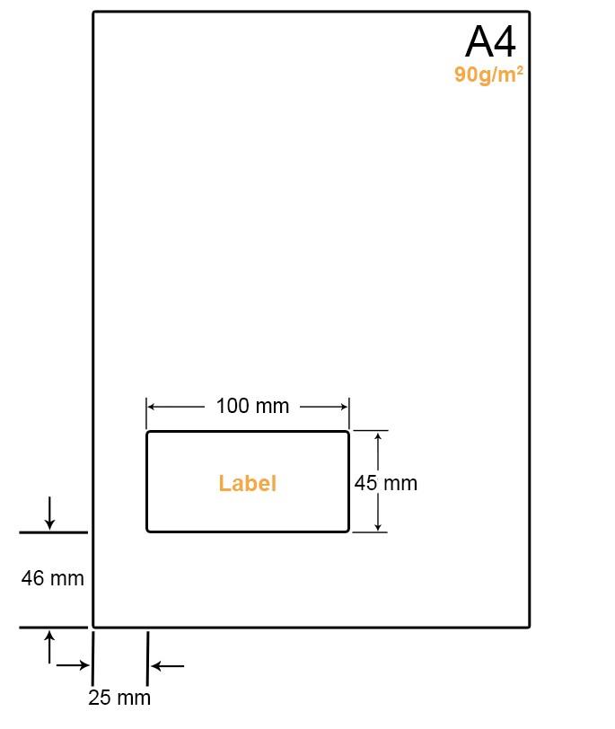 A4 Papier met 1 label - WW4901H