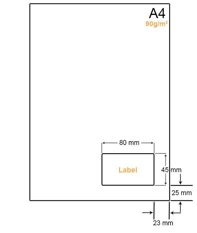 A4 Papier met 1 label - WW4901K