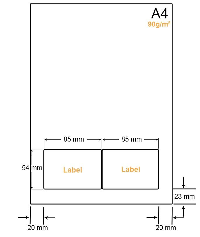 A4 Papier met 2 labels - WW4902C