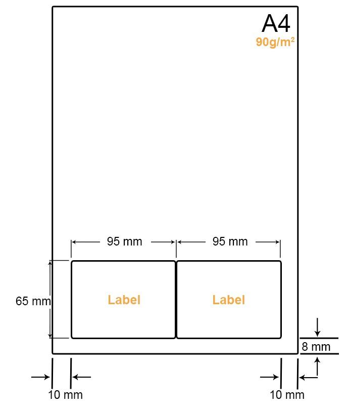 A4 Papier met 2 labels - WW4902E